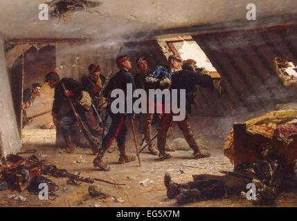 Alphonse-Marie-Adolphe de Neuville  An Episode from the Franco-Russian War - Stock Photo