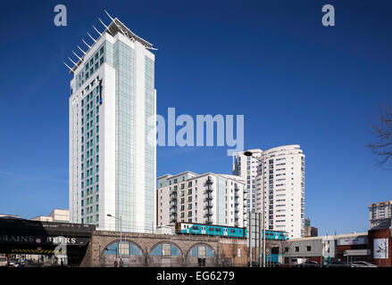 Radisson Blu Hotel and student accommodation in Cardiff City Centre - Stock Photo