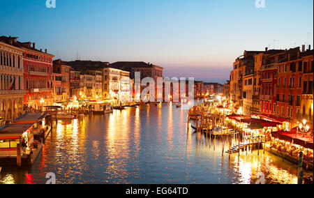 Skyline of Venice in beautiful twilight colors. Italy - Stock Photo