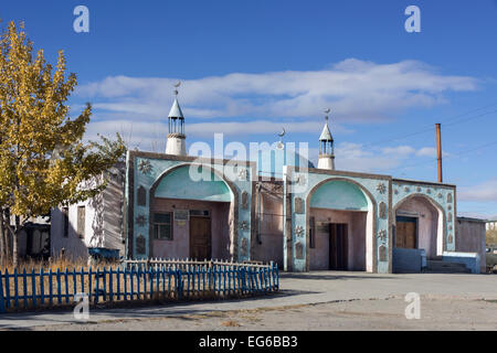 Central mosque, Olgii, Western Mongolia - Stock Photo