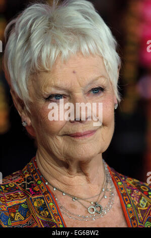 London, UK. 17th Feb, 2015. Dame Judi Dench attends the The Royal Film Performance: The World Premiere of The Second - Stock Photo