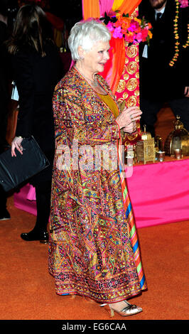 Dame Judi Dench attend the Royal Premiere of The Second Best Exotic Marigold Marigold Hotel at Odeon Leicester Square - Stock Photo