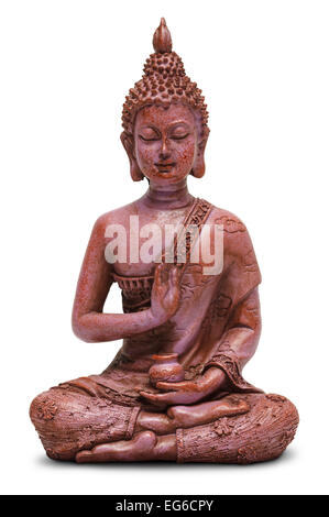 Sitting Buddha Statue Isolated on a White Background. - Stock Photo