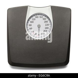 Black and Grey Weight Scale Isolated on White Background. - Stock Photo