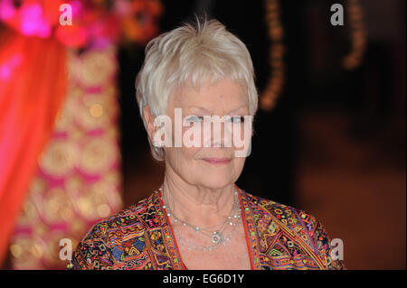 London, UK. 17th Feb, 2015. Dame Judi dench attends The Royal Film Performance and World Premiere of 'The Second - Stock Photo