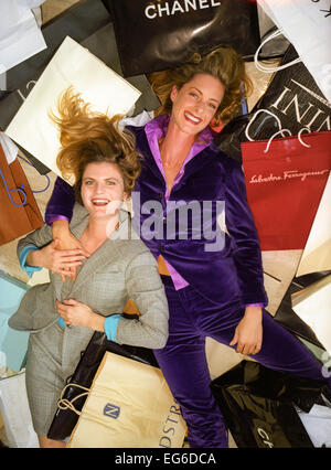 LOS ANGELES, CA – OCTOBER 01: Trinny and Susannah in Los Angeles, California on October 01, 1996. - Stock Photo
