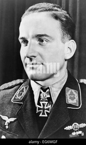 Hans Ulrich Rudel was the most highly decorated German serviceman of World War 2. As a Stuka dive-bomber pilot Rudel - Stock Photo