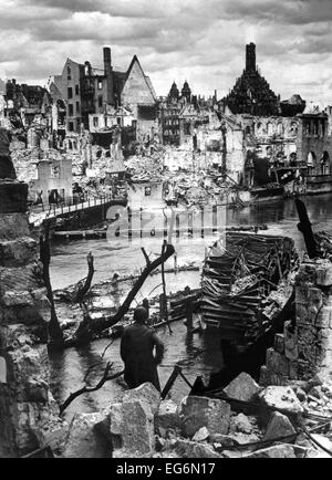 Nuremberg Germany in ruins. The vital industrial city and the festival center of the Nazi party, was captured April - Stock Photo
