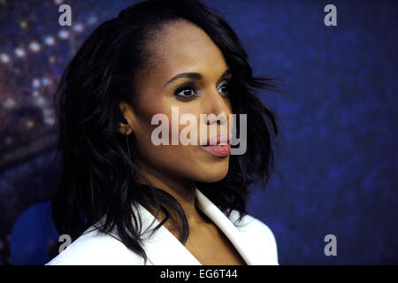 Kerry Washington attending the SNL 40th Anniversary Celebration at Rockefeller Plaza on February 15, 2015 in New - Stock Photo