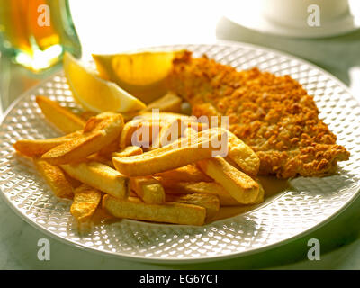 FISH AND CHIPS  OR CHIPS AND FISH - Stock Photo