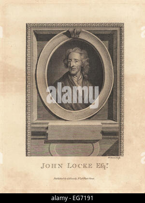 Portrait of John Locke, English philosopher and physician, 1632-1704. - Stock Photo