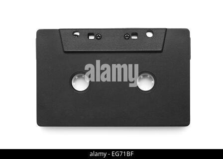 audio cassette tape on white - Stock Photo
