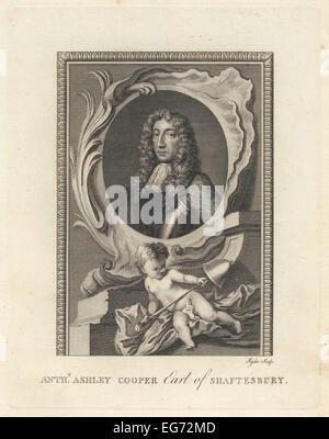 Portrait of Sir Anthony Ashley Cooper, 1st Earl of Shaftesbury, English politician, 1621-1683. - Stock Photo