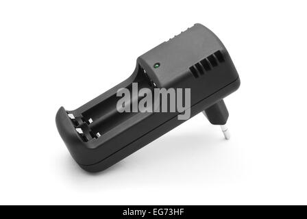 battery charger on white - Stock Photo