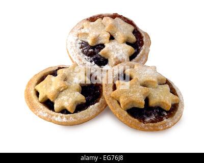mince pies - Stock Photo