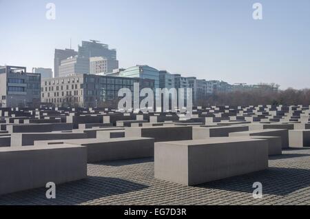 Berlin Holocaust-Mahnmal - Holocaust Memorial 01 - Stock Photo
