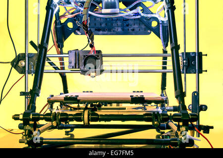 Open Source Three dimensional printer, Printing with Plastic Wire - Stock Photo