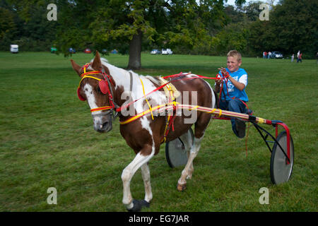 Young Gypsy Traveller Boy Riding A Horse Bareback  Appleby Horse     Alamy