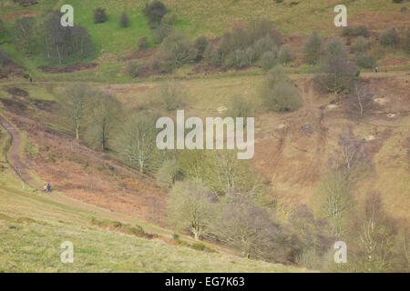 Lady Howard de Walden Drive ( Part of the Worcestershire Way ) & Green Valley, Malvern Hills, Worcestershire, England, - Stock Photo