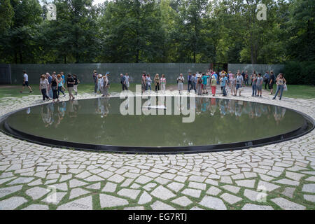 The Memorial to the Sinti and Roma victims of National Socialism is a memorial in Berlin, Germany - Stock Photo