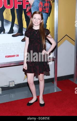 New York, NY, USA. 18th Feb, 2015. Clare Foley at arrivals for THE DUFF Premiere, AMC Loews Lincoln Square, New - Stock Photo