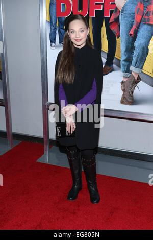 New York, NY, USA. 18th Feb, 2015. Maddie Ziegler at arrivals for THE DUFF Premiere, AMC Loews Lincoln Square, New - Stock Photo