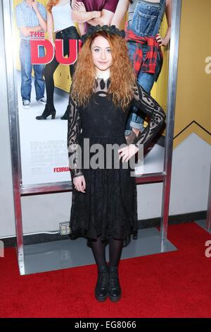 New York, NY, USA. 18th Feb, 2015. Janet Devlin at arrivals for THE DUFF Premiere, AMC Loews Lincoln Square, New - Stock Photo
