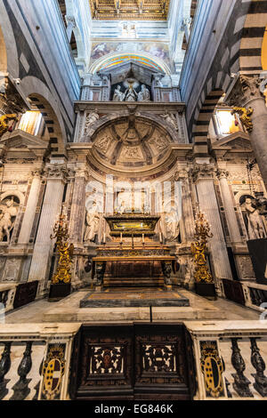 Altar of Pisa Cathedral, Santa Maria Assunta, Piazza del Duomo or Piazza dei Miracoli, Pisa, Tuscany, Italy - Stock Photo