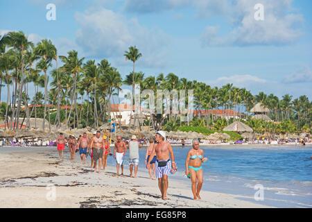 DOMINICAN REPUBLIC. Punta Cana beach on the east coast. 2015. - Stock Photo