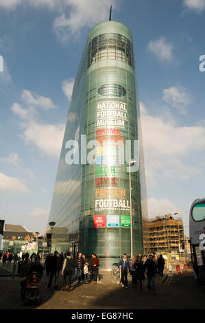 national football museum manchester nfm glass curtain wall walling - Stock Photo