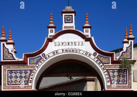 Spain, Andalusia, Seville, La Cartuja, gate, - Stock Photo