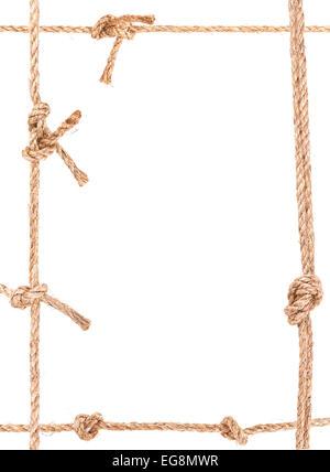 Rope Frame Knot Border Isolated Stock Photo 78867334 Alamy