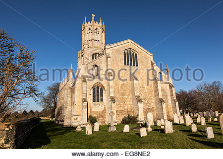 Church of St Mary and All Saints in the village of Fotheringhay, Northamptonshire, UK - Stock Photo
