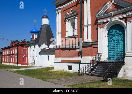 The Cathedral of the Exaltation of the Holy Cross at the Brusensky Monastery in the Kremlin of Kolomna, Russia - Stock Photo