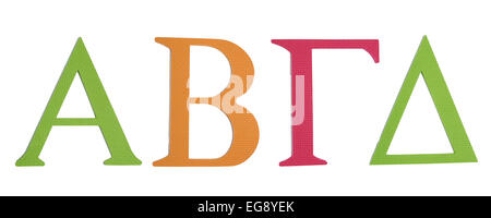 Colorful greek alphabet. Alpha, Bita, Gamma, Delta - Stock Photo