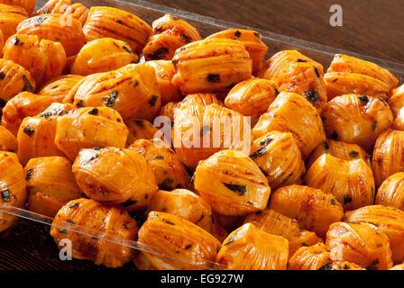 Rice cracker chili balls - Stock Photo