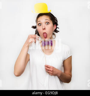Woman making faces - Stock Photo