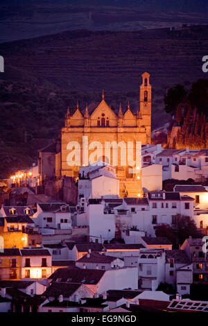 Real Renaissance collegiate santa maria la mayor monumental city of Antequera Malaga andalusia Spain real colegiata - Stock Photo