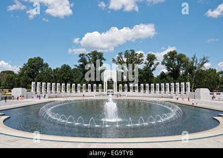 National World War II Memorial, National Mall, Washington D.C. USA - Stock Photo
