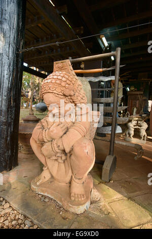 Artwork at Baan Dam, the Black House temple and museum in Chiang Rai Stock Ph...