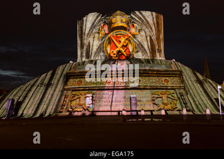 Illuminate York 2013 at Clifford's Tower and The Museum Gardens. - Stock Photo
