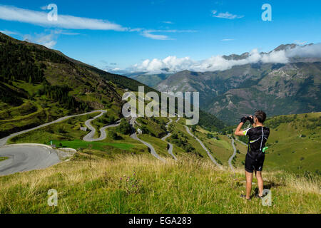 The Road Up To Luz Ardiden, Hautes Pyrenees, France - Stock Photo