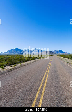 Road in Big Bend National Park,Texas, USA - Stock Photo