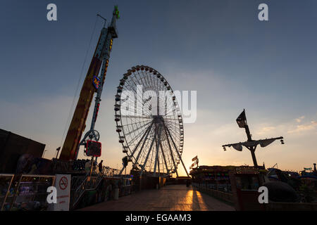 Ferris Wheel at the Global Village in Dubai - Stock Photo