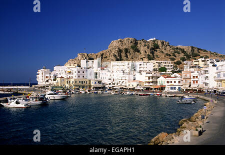 greece, dodecanese islands, karpathos, pigadia port - Stock Photo