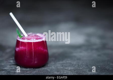 fresh beetroot juice in glass - Stock Photo