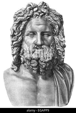 The Otricoli Zeus, 4th century, Vatican Museum, - Stock Photo