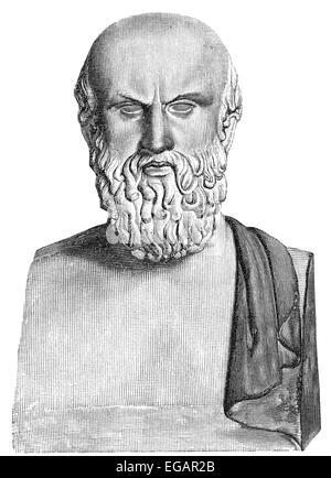 Aeschylus; c. 525/524 - c. 456/455 BC, an ancient Greek tragedian, Aischylos, Äschylus, oder Aeschylus, 525 v. Chr. - Stock Photo