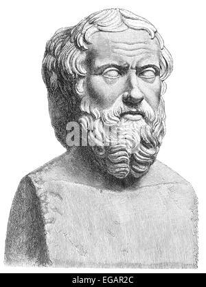 Herodotus of Halicarnassus, 490-480 BC - around 424 BC, an ancient Greek historian, geographer and ethnographer, - Stock Photo
