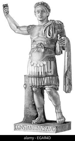 Constantine the Great or Constantine I,  Flavius Valerius Aurelius Constantinus Augustus, c. 272 - 337, Roman Emperor - Stock Photo